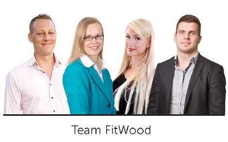 FitWood tiimi ISPO 2017